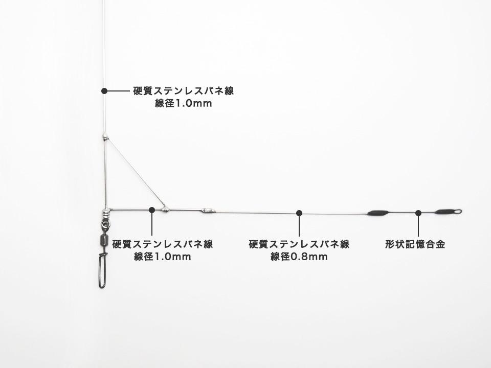 必殺キスL型天秤タイプ03各部の材質と線径