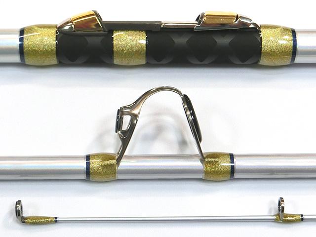 シマノ・2016NEWキススペシャル〈405EX+〉、富士工業・FK2-T-NS7・・・ラバーグリップ装着